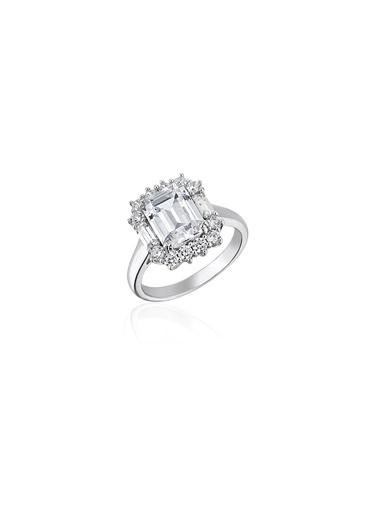 Tophills Diamond Co. 2,8Ct Pırlanta Efekt Jenna Altın Yüzük Renkli